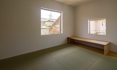 elnath/平面的、立体的な斜めの壁によって構成された空間を考えてみる。 (和室)