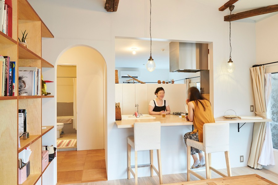 Arbre-外観は古民家風に、空間はイギリスのB&Bのように (キッチン)