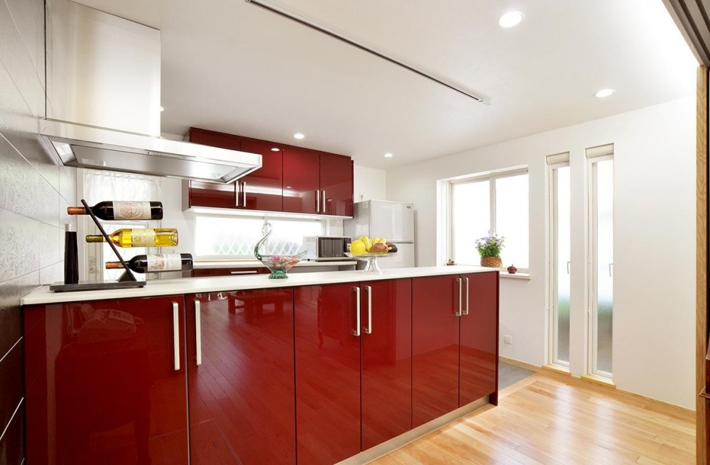 空気環境にこだわったクラシカルモダンな空間 (キッチン)