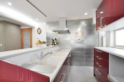キッチン (空気環境にこだわったクラシカルモダンな空間)