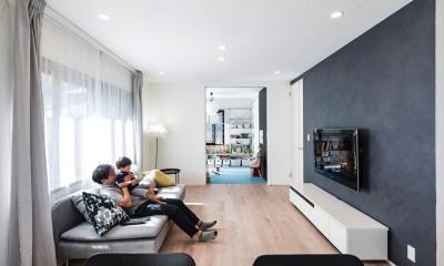 岐阜市 A様邸|Achromatic color -生活を通して毎日が色づく家- (リビング)