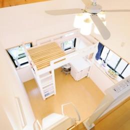 子供部屋を増築 のびやかに成長できる空間 (子供部屋)