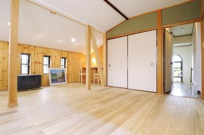 寝室・納戸 (子供部屋を増築 のびやかに成長できる空間)