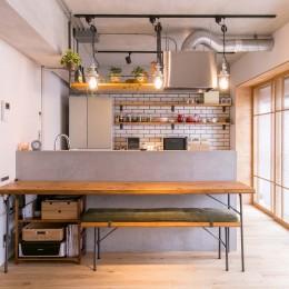 キッチン (DAIRY+~住み慣れた住まいを自分好みへ。風情漂う京町家~)