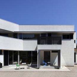 元山城に建つドックランのある家 -滋賀の家- (外観 昼景)