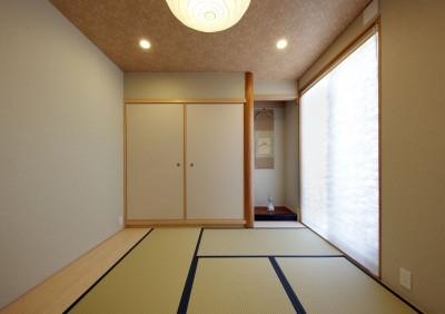 和室 (元山城に建つドックランのある家 -滋賀の家-)