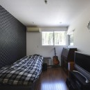 元山城に建つドックランのある家 -滋賀の家-の写真 ベッドルーム