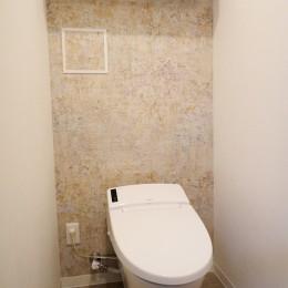 石壁のインテリアウォール (トイレ)