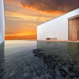 諏訪湖畔のアトリエ|諏訪の家 (エントランス)