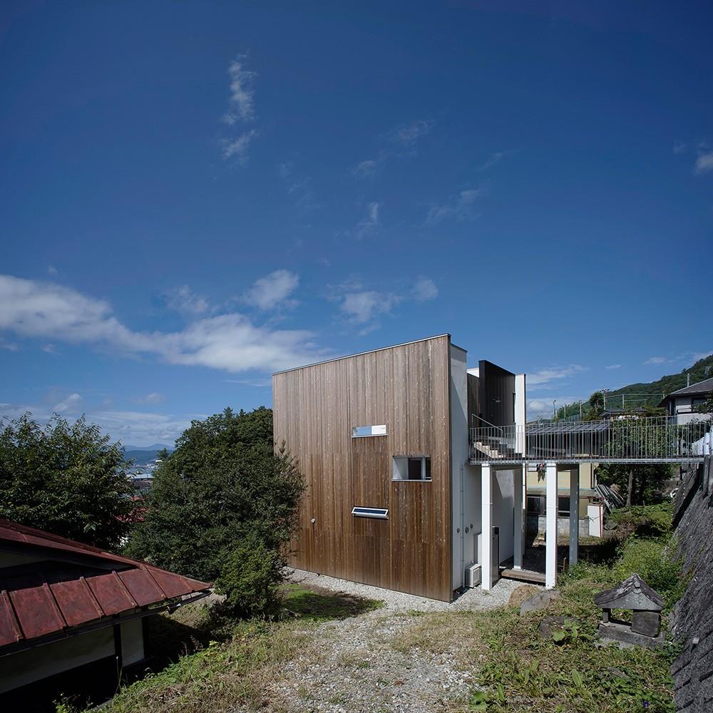 諏訪湖畔のアトリエ 諏訪の家 (外観)