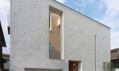 二世帯を繋げる中庭|二世帯の中庭のある家へリノベーション