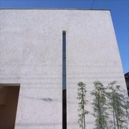 二世帯を繋げる中庭|二世帯の中庭のある家へリノベーション (外観)