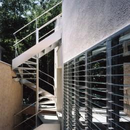 ホタルの棲む竹薮と共生 - 中庭のある15坪の狭小住宅|春日町の家