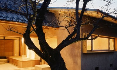 土間のある家| 500年目の大修理、旧家リノベーション (中庭)