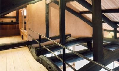 土間のある家| 500年目の大修理、旧家リノベーション (ロフト)