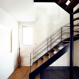 キッチンスタジオのある家 (アイアンの螺旋階段)