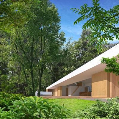 生駒の家 山のリゾート地に開かれたプライベートな週末の家 (外観 テラス)
