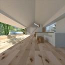 生駒の家|山のリゾート地に開かれたプライベートな週末の家の写真 リビング