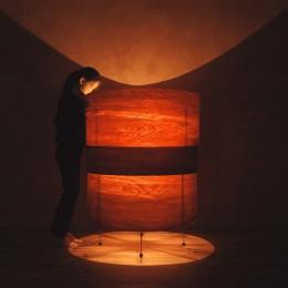 肥松単板のあかり|杢 -Translucent:時の記憶 (照明 ライト)