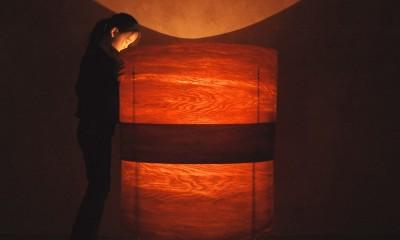 肥松単板のあかり|杢 -Translucent:時の記憶