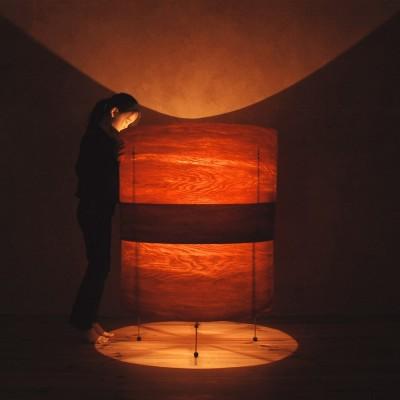 照明 ライト (肥松単板のあかり|杢 -Translucent:時の記憶)