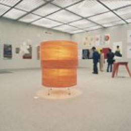 肥松単板のあかり|杢 -Translucent:時の記憶 (京都デザイン大賞コンペ 1999 での展示風景.)