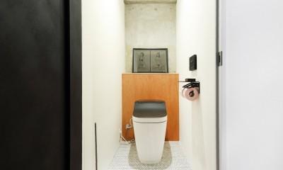 ディスプレイのような土間 (トイレ)