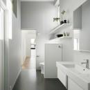 間窓の家 - ギャラリーのある暮らしの写真 洗面所