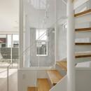 間窓の家 - ギャラリーのある暮らしの写真 階段 ギャラリー