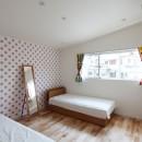 あちこちでお茶できる家 -土間のある玄関-の写真 女の子の部屋