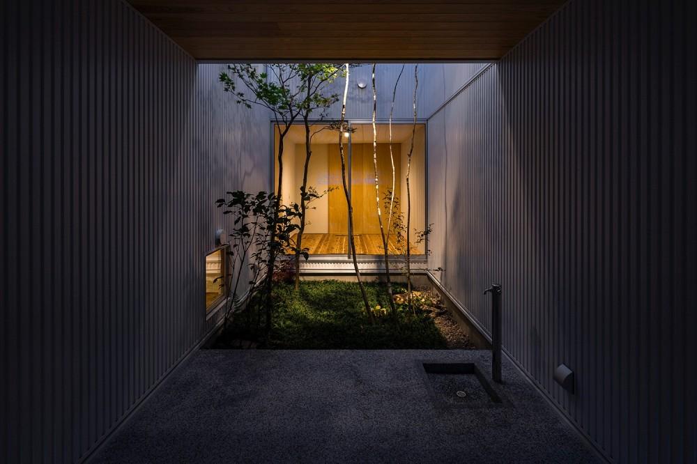 zubenelgenubi/囲われた2つの庭を立体的に多角的に眺められるかたちを考えてみる。 (玄関)