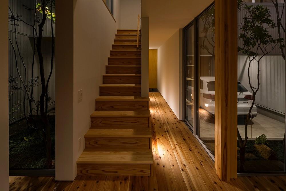 zubenelgenubi/囲われた2つの庭を立体的に多角的に眺められるかたちを考えてみる。 (階段)