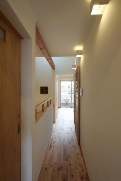 2階廊下 (住之江の元長屋 | ビフォーアフター放映 | 築74年の元長屋に光と風を)