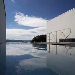 諏訪湖畔のアトリエ|諏訪の週末の家 (エントランス・空中庭園・外観)