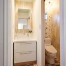 ナチュラルで柔らかい空気感の写真 洗面所・トイレ