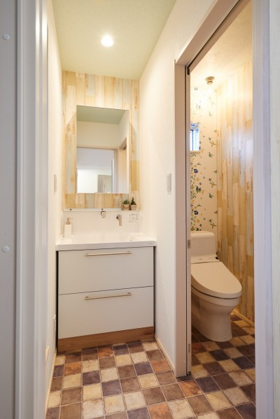 洗面所・トイレ (ナチュラルで柔らかい空気感)
