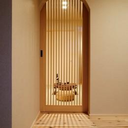 ナチュラルで柔らかい空気感 (木製格子建具)