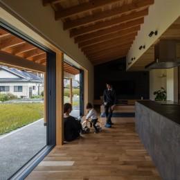 風景を取り込む寺庄の家