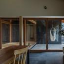 風景を取り込む寺庄の家の写真 プライベートな中庭