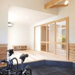 自転車と共に過ごせる土間リビングのある家 飯能市・S邸