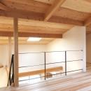 自転車と共に過ごせる土間リビングのある家 飯能市・S邸の写真 吹抜けを通じダイニングキッチンとつながるオープンな寝室