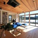 清武町の家~素材感を愉しむ家~の写真 リビング