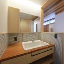 清武町の家~素材感を愉しむ家~の写真 洗面スペース