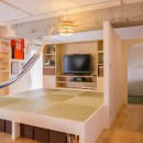 room blue ballen~「妻に心ときめくキッチンを」。想い溢れるワンルーム的リノベーション~の写真 リビングダイニング