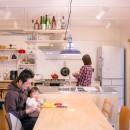 room blue ballen~「妻に心ときめくキッチンを」。想い溢れるワンルーム的リノベーション~の写真 ダイニングキッチン