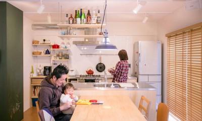 room blue ballen~「妻に心ときめくキッチンを」。想い溢れるワンルーム的リノベーション~ (ダイニングキッチン)