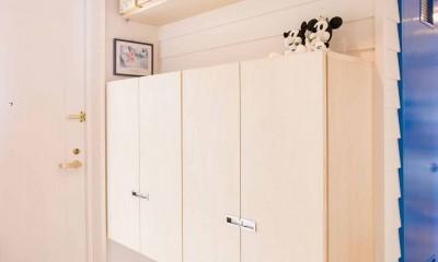 room blue ballen~「妻に心ときめくキッチンを」。想い溢れるワンルーム的リノベーション~ (玄関)