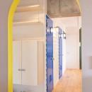 room blue ballen~「妻に心ときめくキッチンを」。想い溢れるワンルーム的リノベーション~の写真 アーチ開口