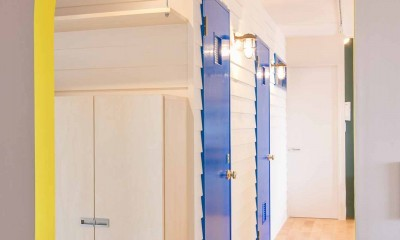 room blue ballen~「妻に心ときめくキッチンを」。想い溢れるワンルーム的リノベーション~ (アーチ開口)