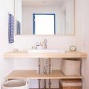 room blue ballen~「妻に心ときめくキッチンを」。想い溢れるワンルーム的リノベーション~の写真 洗面